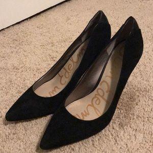 Sam Edelman Black Pointed Toe Heels Size 9
